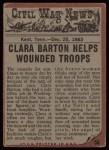 1962 Topps Civil War News #58   Angel of Mercy Back Thumbnail