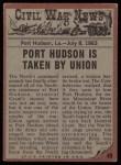 1962 Topps Civil War News #49   The Explosion Back Thumbnail
