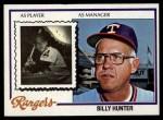 1978 Topps #548  Billy Hunter  Front Thumbnail