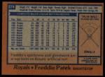 1978 Topps #274  Freddie Patek  Back Thumbnail