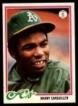 1978 Topps #658  Manny Sanguillen  Front Thumbnail
