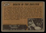 1962 Topps / Bubbles Inc Mars Attacks #29   Death in the Shelter Back Thumbnail