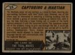1962 Topps / Bubbles Inc Mars Attacks #25   Capturing Martian  Back Thumbnail