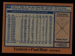 1978 Topps #114  Paul Blair  Back Thumbnail