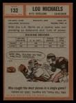 1962 Topps #132  Lou Michaels  Back Thumbnail