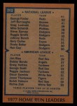 1978 Topps #202   -  George Foster / Jim Rice HR Leaders  Back Thumbnail