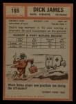 1962 Topps #165  Dick James  Back Thumbnail