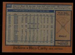 1978 Topps #305  Rico Carty  Back Thumbnail