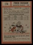 1962 Topps #170  Fred Dugan  Back Thumbnail