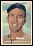 1957 Topps #169  Herb Plews  Front Thumbnail