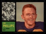 1962 Topps #81  Jim Phillips  Front Thumbnail