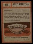 1962 Topps #108  Andy Robustelli  Back Thumbnail