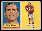 1957 Topps #42  Billy Wilson  Front Thumbnail