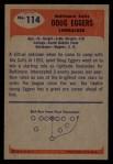 1955 Bowman #114  Doug Eggers  Back Thumbnail