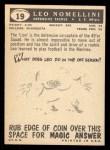 1959 Topps #19  Leo Nomellini  Back Thumbnail