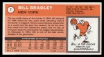 1970 Topps #7  Bill Bradley   Back Thumbnail
