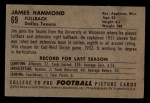 1952 Bowman Small #69  James Hammond  Back Thumbnail