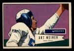 1952 Bowman Small #114  Art Weiner  Front Thumbnail