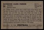 1952 Bowman Small #84  Raymond Parker  Back Thumbnail