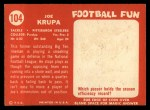 1958 Topps #104  Joe Krupa  Back Thumbnail