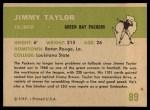 1961 Fleer #89  Jimmy Taylor  Back Thumbnail