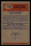1955 Bowman #124  Elbert Nickel  Back Thumbnail