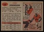 1957 Topps #16  John Johnson  Back Thumbnail