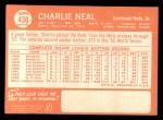 1964 Topps #436  Charlie Neal  Back Thumbnail
