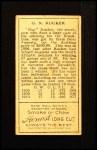 1911 T205  George Rucker  Back Thumbnail