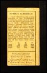 1911 T205 #205  Kid Elberfeld  Back Thumbnail
