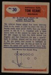 1955 Bowman #30  Tom Keane  Back Thumbnail