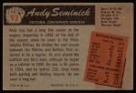1955 Bowman #93  Andy Seminick  Back Thumbnail