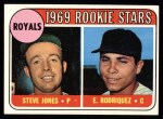 1969 Topps #49 Q  -  Steve Jones / Elilie Rodriquez Royals Rookies Front Thumbnail
