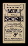 1910 M116 Sporting Life  Admiral Schlei  Back Thumbnail