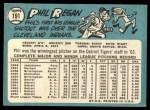 1965 Topps #191  Phil Regan  Back Thumbnail