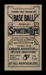 1910 M116 Sporting Life  George Bell  Back Thumbnail