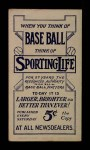 1910 M116 Sporting Life  Heinie Wagner  Back Thumbnail