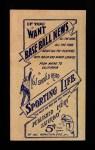 1910 M116 Sporting Life  Bob Unglaub  Back Thumbnail