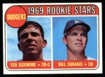 1969 Topps #552   -  Ted Sizemore / Bill Sudakis Dodger's Rookies Front Thumbnail