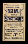 1910 M116 Sporting Life  Al Burch  Back Thumbnail