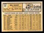 1963 Topps #391  Bill Dailey  Back Thumbnail