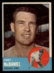 1963 Topps #329  Lindy McDaniel  Front Thumbnail
