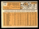 1963 Topps #28 WHI Mike Fornieles  Back Thumbnail