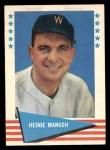 1961 Fleer #57  Heinie Manush  Front Thumbnail