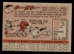 1958 Topps #357  Danny McDevitt  Back Thumbnail