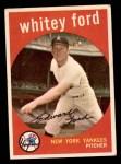 1959 Topps #430  Whitey Ford  Front Thumbnail