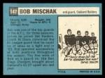 1964 Topps #147  Bob Mischak  Back Thumbnail