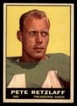 1961 Topps #99  Pete Retzlaff  Front Thumbnail