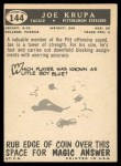 1959 Topps #144  Joe Krupa  Back Thumbnail