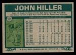 1977 Topps #595  John Hiller  Back Thumbnail